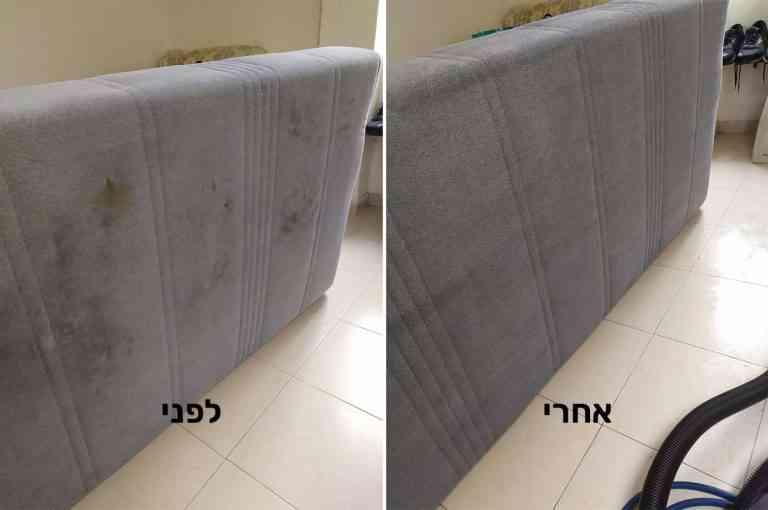 ניקוי מיטת יחיד לפני אחרי